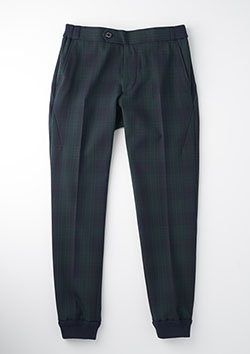 TR WARM(PLANE)RIB TROUSERS