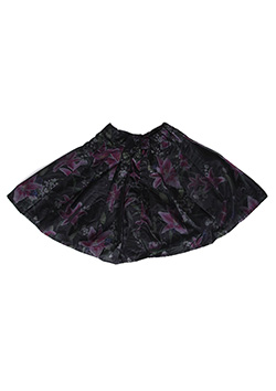 OPTICAL GARDEN PLEATS SKIRT