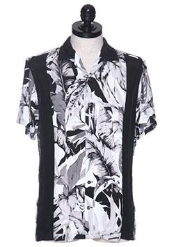 フラワープリントボーリングアロハシャツ
