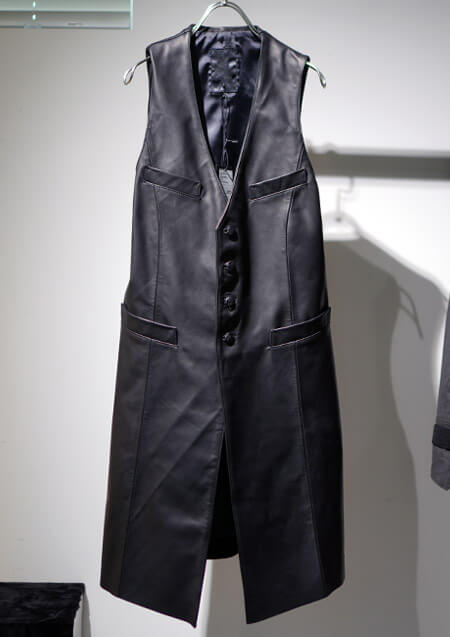 HORSE OIL LEATHER LONG VEST