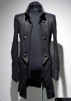CALF LONG LEATHER NAPOLEON JACKET