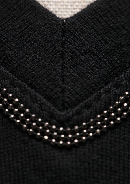 40/2 COTTON BLACK CHAIN BEADS CHAIN V