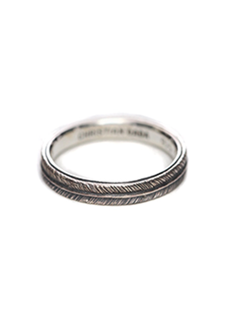 FEATHER ENGRAVED RING NADE BY DUALFLOW