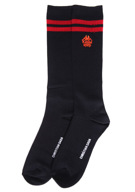 ×KAPPA LOGO EMBROIDERED SOCKS