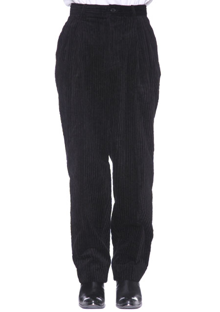 WIDE WALE CORDUROY WIDE LEG TROUSERS