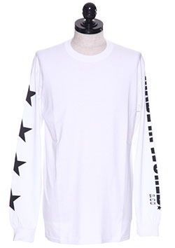 CREW NECK LONG TEE (FOUR STAR)