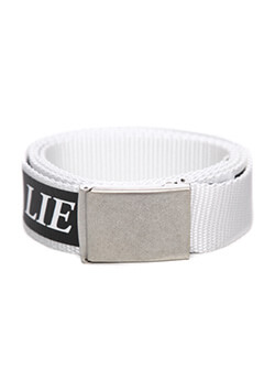 BUCKLE BELT - WHITE LIE