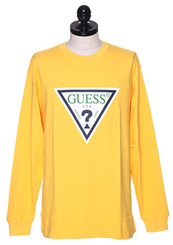 GUESS LOGO LONG SLEEVE TEE