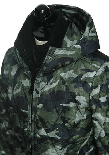 LIMONTA CAMO HOODED DIA SKI DOWN JACKET