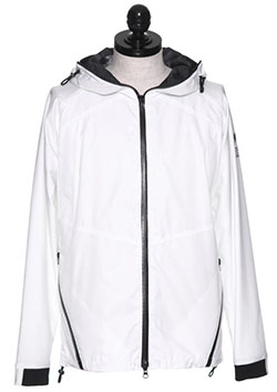 WHITE NECK ZIP UP ANOLAC BLOUSON