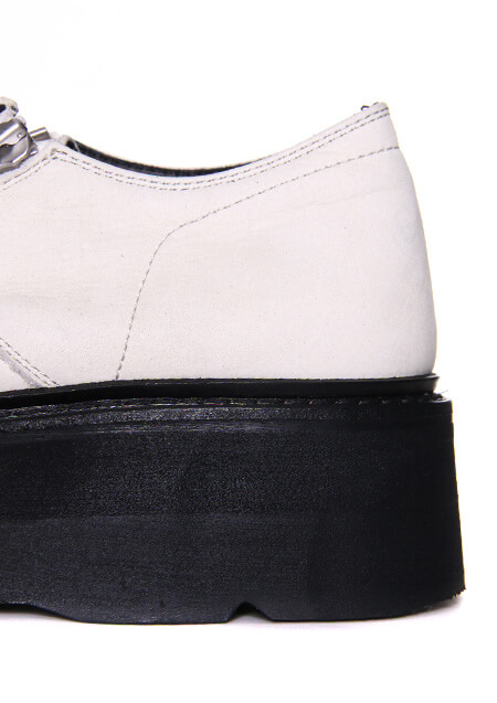 COW SKIN DOUBLE ZIP THICK-SOLED SHOES