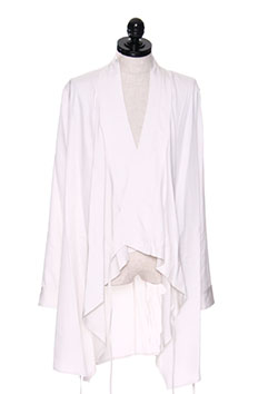 RAYON GABA WRAPPING SHIRT JACKET