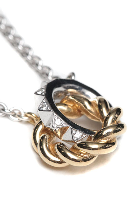 SILVER GOLD RING PENDANT