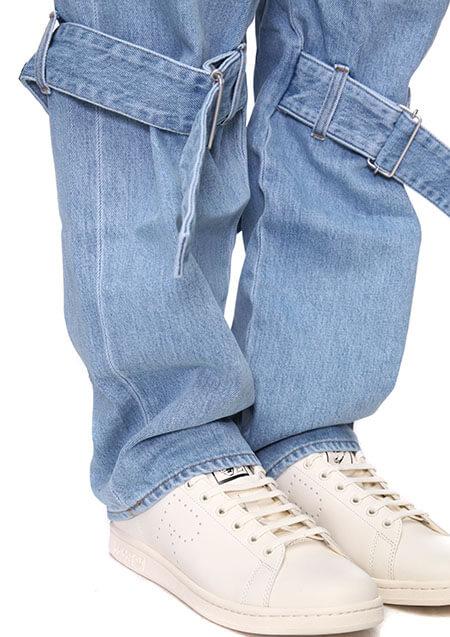 DENIM BOUDAGE PANTS