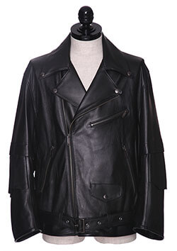 3/4 SLEEVE LEATHER MOTORCYCLE JACKET