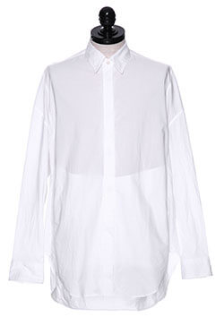 COTTON TYPEWRITER CLOTH DROP SHOULDER SHIRT