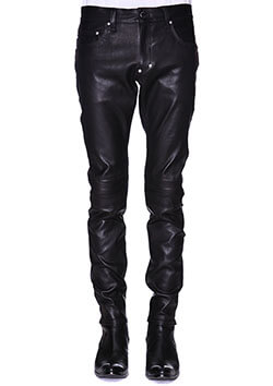 LEATHER BONDING SKINNY PANTS