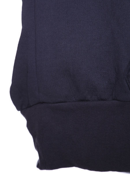 COTTON DOUBLE FACE SEAMED SLEEVE PRINT HOODIE
