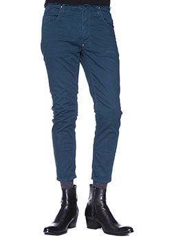 DAMAGED CROPPED SLIM SKIN PANTS