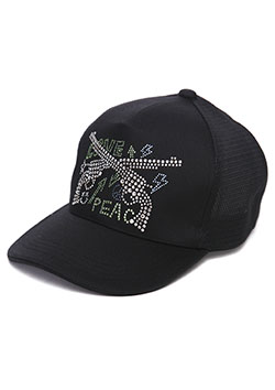 MESSAGE PISTOL SWAROVSKI KNIT DENIM CAP