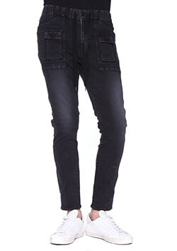 11.5oz 4way HIGH STRETCH DENIM PISTOL SWAROVSKI BUSH PANTS