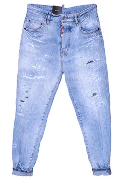 BLUE 80's JEANS IN COTTON