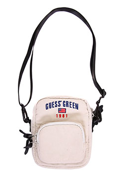 GUESS GREEN 1981 CORDUROY SHOULDER BAG