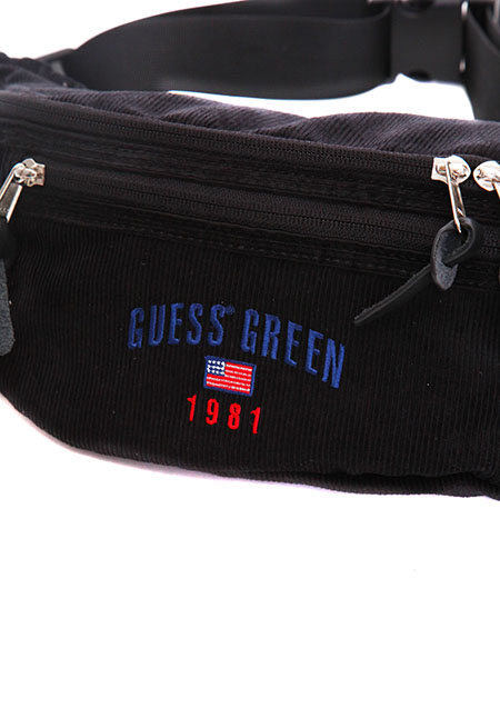 GUESS GREEN 1981 CORDUROY FANNY PACK