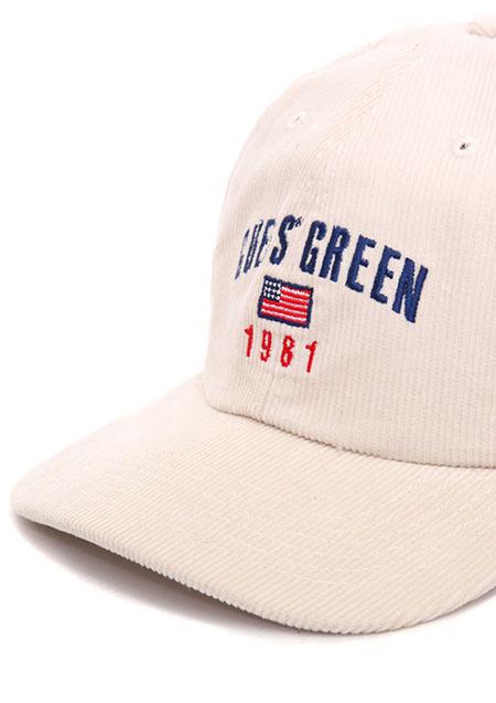 GUESS GREEN 1981 CORDUROY CAP