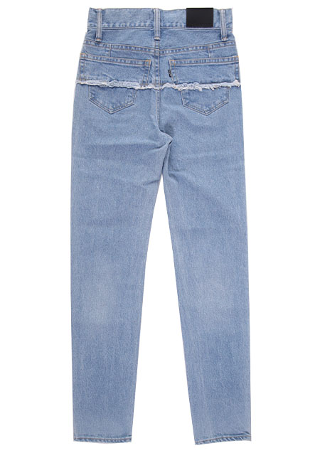 CLOSE-UP SLIM FIT CONNECTED DENIM TROUSERS