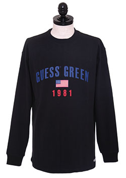 GUESS GREEN 1981 LS TEE