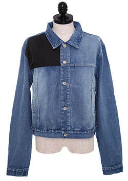 NYLON PANEL DENIM JACKET