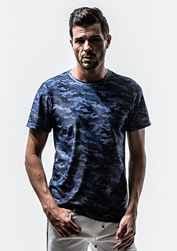 CAMOUFLAGE DENIM RUSH TEE