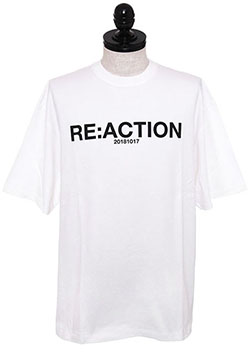 RE ACTION PRINT T-SHIRT