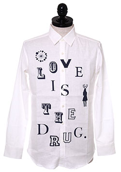 LINEN SHIRT LOVE IS THE DRUG