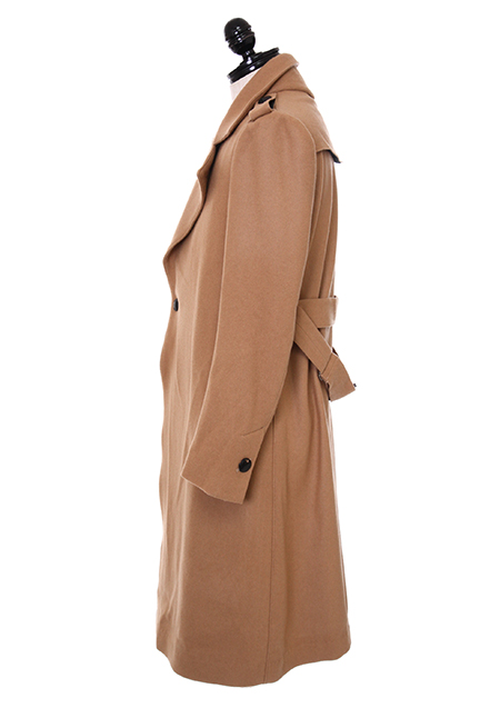 SUPER100S MELTON LONG COAT