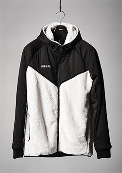 ZIP-UP HOODED PARKA SNOW WHITE