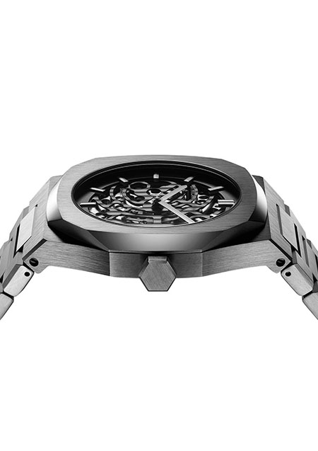 P701 AUTOMATIC SKELETON WATCH IP GUN CASE WITH GUN BRACELET
