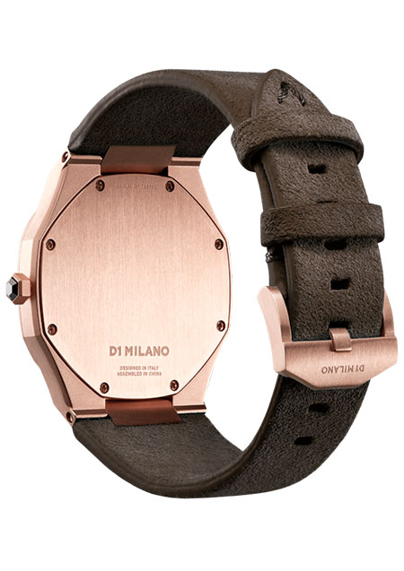 ULTRA THIN ROSE GOLD CASE WITH SIENA BROWN SUDE TRAP