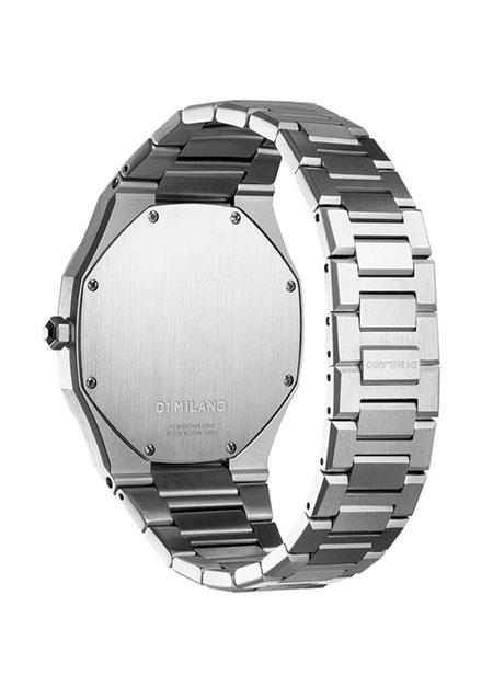 ULTRA THIN SILVER CASE WITH SILVER METAL BRACELET