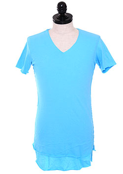 SWEET JERSEY TWO LAYERED V-NECK TEE
