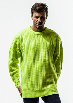 WEAVING STITCH LOOSE  SWEATER
