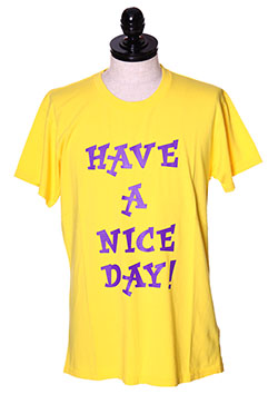 WASHED CREW NECK T-SHIRTS (HACE A NICE DAY)