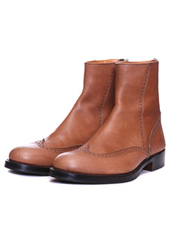 WINGTIP BACKZIP / HEAVY COW LEATHER