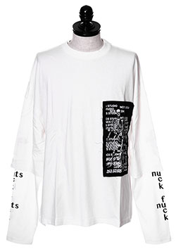 FUCK NUTS LAYERED L/S TEE