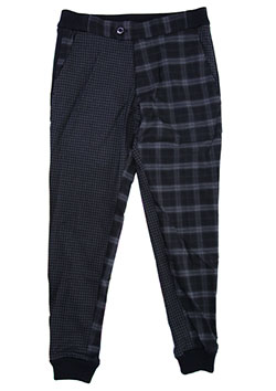 RIB TROUSERS CRAZY CHECK