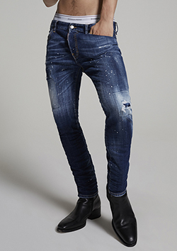UNDER PATCH SKATER JEANS