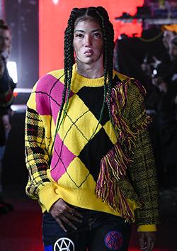 Destroy Argyle Tartan Pullover Knit