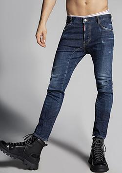 S74LB0760-S30342 Dark Deep Blue-Wash Tidy Biker Jeans