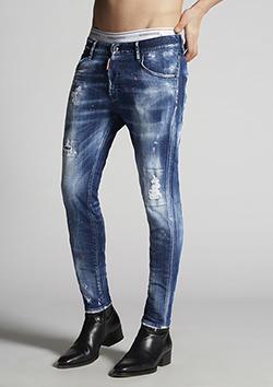 S74LB0756-S30342 Medium Orange Country Wash Skinny Dan Jeans